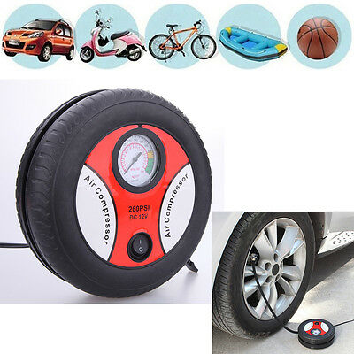 12V Portable Electric Mini Tire Inflator Air Compressor Car Auto Inflator Pump