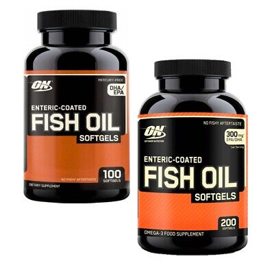On Optimum Nutrition Enteric Coated Fish Oil 200 Softgels Omega 3 Epa Dha