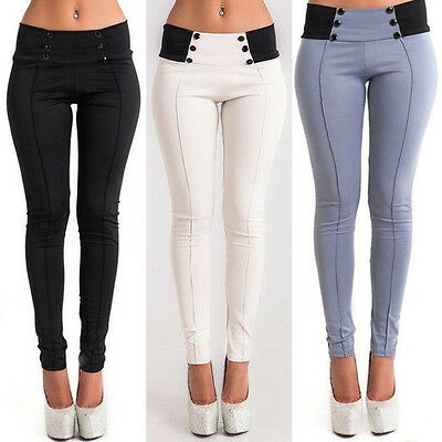Sexy Women Slim Skinny Jeggings Stretchy Pencil Pants Leggings Tight Trousers