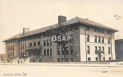 Indiana In Real Photo RPPC Postcard c1910 GARY Y.M.C.A. Building