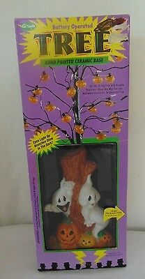 New Vintage Fun World Electronic Battery Operated Halloween Tree Decoration
