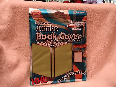 "It's Academic Jumbo Book Cover Solid Lime  Green Fabric XXL to 10""-x15 "" NEW"