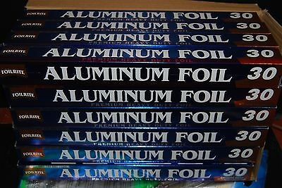 "Lot Of 24 pc HEAVY DUTY ALUMINUM FOIL 30 SQ FT(6.75 yards x 17.7"") Free Shipping"