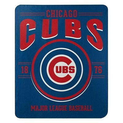 """Brand New MLB Chicago Cubs Large Soft Fleece Throw Blanket 50"""" X 60"""""""