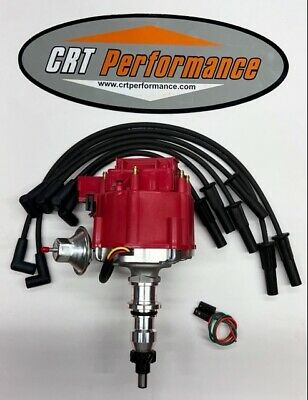 ford inline straight 6 cylinder 65 76 240 300 4 9l hei distributor ford 4 9l 300 hei distributor spark plug wires 1965 1987 red crt