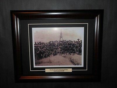 Theodore Teddy Roosevelt Rough Riders San Juan Hill Cuba 1898 Photo Framed
