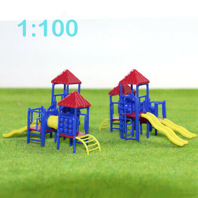 GY17100 2sets Model Train Railway Playground Equipment 1:100 Scale TT recreation
