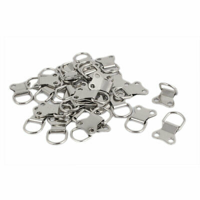 35mm x 22mm Double Hole D-Ring Picture Frame Hanging Hangers 30PCS w Screws