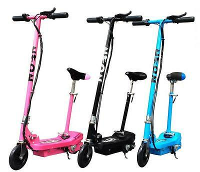 Kids Rocket E10 NEON Electric E Scooter Ride on 120w - 24v Battery Powered