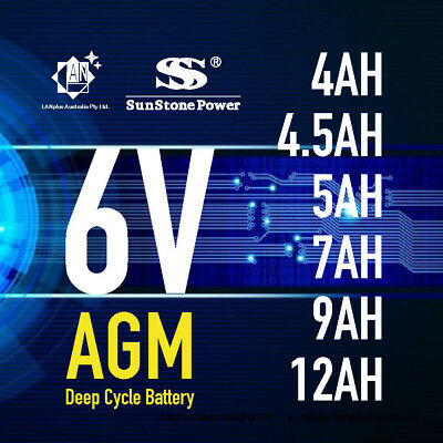 Brand New 6V 4.0AH 4.5AH 5AH 7AH 9AH 12AH AGM  Sealed Lead Acid Battery