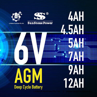 Brand New 6V 4.0AH 4.5AH 5AH 9AH 12AH AGM Rechargeable Sealed Lead Acid Battery
