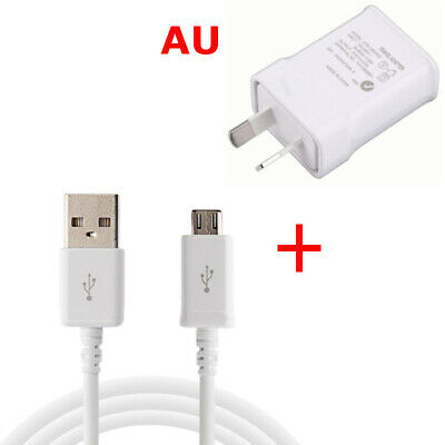 AU USB Cable Travel Home 2A AC Wall Charger Power Adapter For Samsung S6 S7 Edge