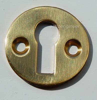 Polished Brass Keyhole Escutcheon For Covering Keyholes