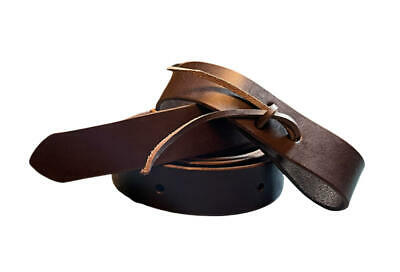 7.5 to 8-foot Amish Made Latigo Genuine Leather Cinch Strap DARK OIL BROWN