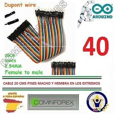 Cables Wire Jumper Dupont 20 cm Terminal Macho/Hembra, Male / Female Terminal
