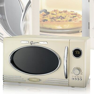 900W Microwave 25 Litre microwave Oven 1000W Grill 12 Programmes Melissa beige