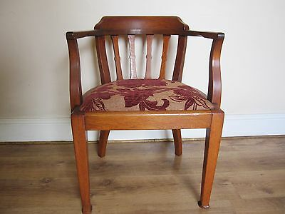 Edwardian Corner Chair Crafted in Solid Oak