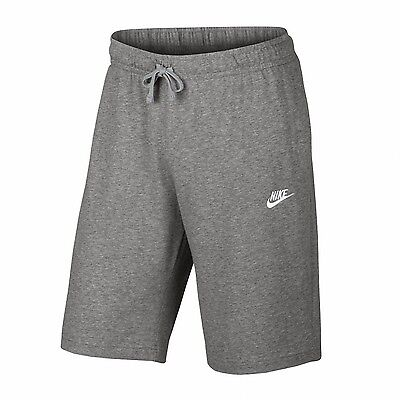 Nike Herren Baumwoll Short NSW Club Trainingsshort grau