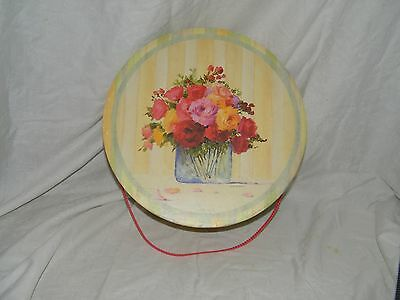 Decorative Hat Box Peter McGowan Floral 15 Inches 18183