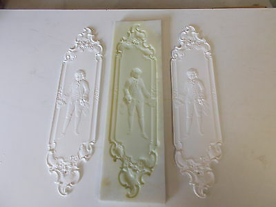 Ornate French Decorative Door Finger Plates Silicone Rubber Mould