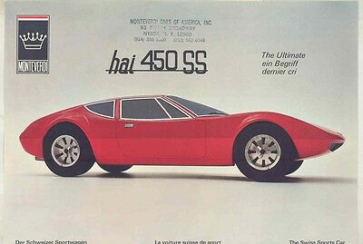 1971 Monteverdi Hai 450SS Brochure with Mailing Envelope ww1450