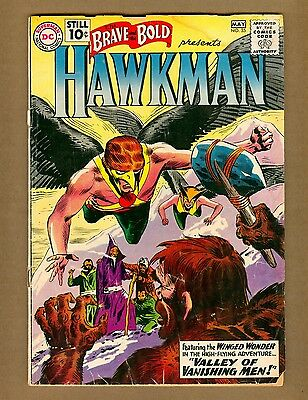 Brave and the Bold 35 (FR) DC Comics 1961 2nd HAWKMAN by KUBERT (c#08271)