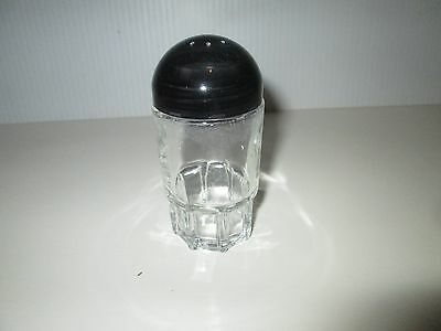 Retro Futuristic Glass Salt & Pepper Shakers With Domed Plastic Lids Deal/5