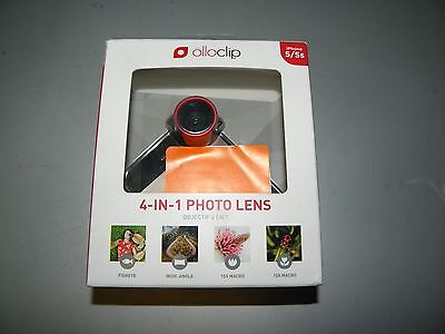 Olloclip 4-In-1 Photo Lens For Iphone 5/5S Red/black New