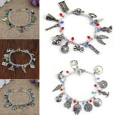 Game of Thrones Suicide Squad Supernatural Metal Charms Bracelet Wristbands