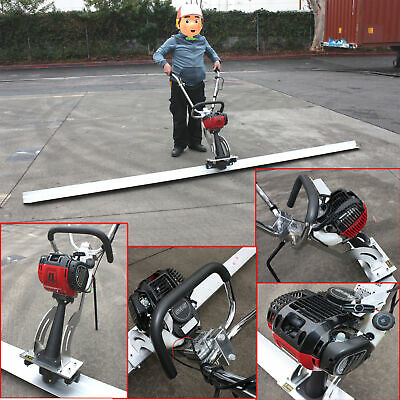 Gas power Concrete Finisher Surface Screed Leveling Tamper Machine w/12ft Board