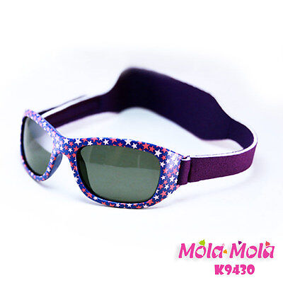 Mola Mola Polarized Baby Sunglasses with strap infant toddler Purple 1-3 years