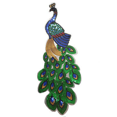 Embroidery Applique Iron On Sew Badge Patch DIY Clothing Bag Accessory Peacock