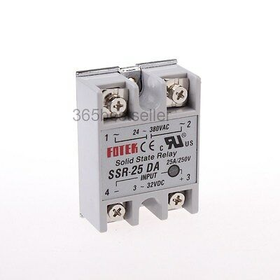 24-380VAC 3-32VDC SSR-25D Amp Model DC Input AC Output Solid State Relay
