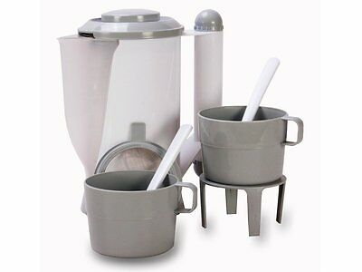 White, 500ml, 12V Kettle Kit with cups and accessories for Car / Boat / Van