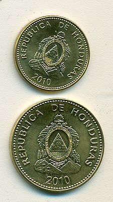 2 NICE COINS from HONDURAS - 5 & 10 CENTAVOS (BOTH DATING 2010)