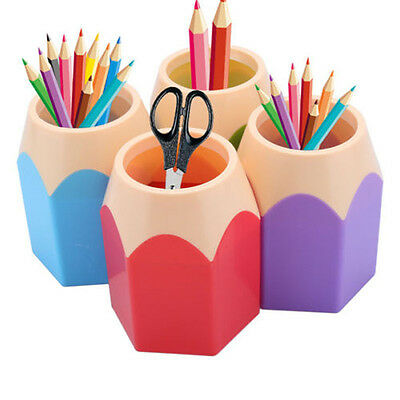 Back to School Makeup Brush Pencil Pot Pen Holder Stationery Tidy Desk Storage