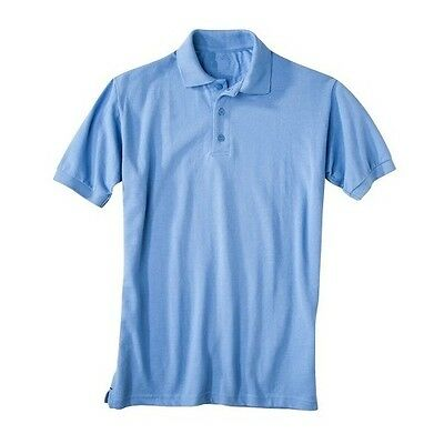 36 Pieces Short Sleeve Pique Polo Shirt Light Blue Sizes 4-7 Wholesale Lot