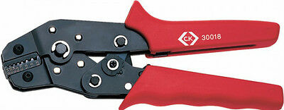 CK 430018 RATCHET CRIMPING PLIERS FOR BOOT LACE FERRULES (0.14 - 2.5mm)