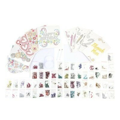 34 piece Crystal Card Kit (Makes 10 Crystal Cards), cardmaking scrapbooking DIY