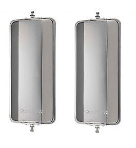 """One Pair of 7"""" x 16"""" West Coast Mirrors Stainless Steel Truck Mirrors"""