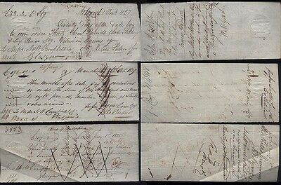 1825-27 GLASGOW Banking Bills of Exchange J & W Campbell of Ingram St + Revenues