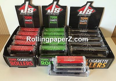LOT OF 36 - Cigarette Rolling Machines for papers 12 each of 70mm, 79mm, 110mm
