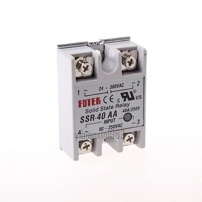 New SSR-40AA 40A Single Phase Solid State Relay 80-250V AC / 24-380V AC