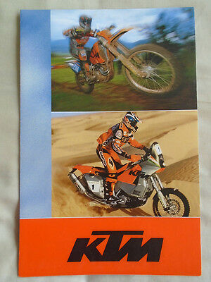 KTM range motorcycle brochure 2003 English & German text