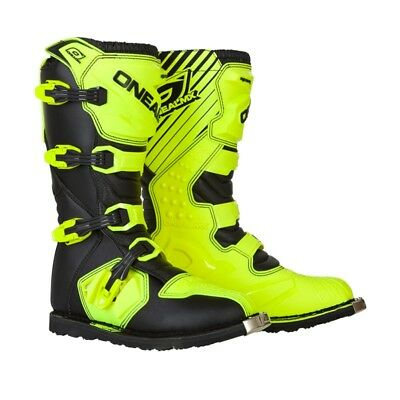 Oneal Rider Boots Offroad Motocross Black/Hi-Viz Mens All Sizes