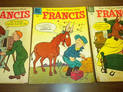 FRANCIS THE FAMOUS TALKING MULE #621,698,810 Dell Four Color Series lot tv movie