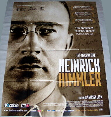 HEiNRiCH HiMMLER THE DECENT ONE Documentary Nazism Ww2 Shoah LARGE French POSTER