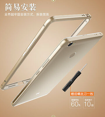 Original LUPHIE HQ Thin Aluminum Metal Bumper Frame Cover Case For Xiaomi Mi MAX