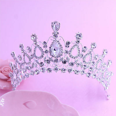 Wedding Bridal Crystal Rhinestone Hair Headband Crown Comb Tiara Prom Pageant