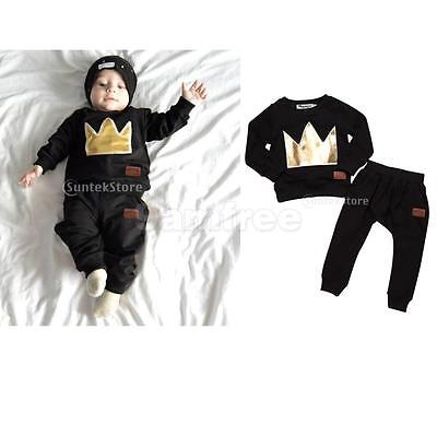 Phenovo Newborn Toddler Baby Kids Long Sleeve T-shirt Tops+Pants Clothes Outfits